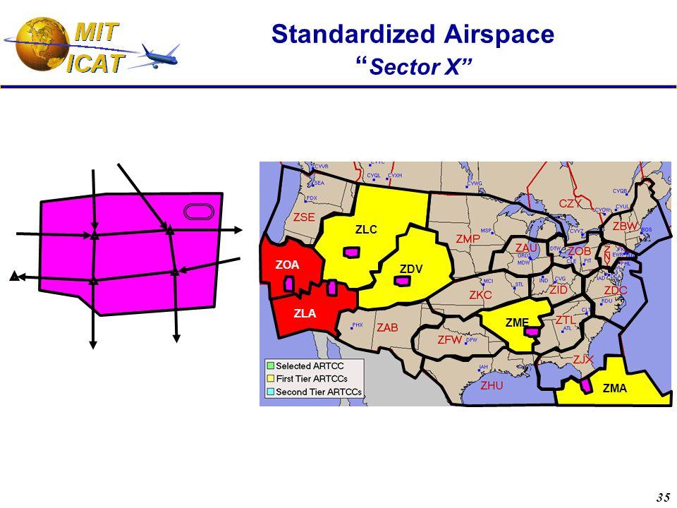 """35 Standardized Airspace """" Sector X"""" ZOA ZME ZMA ZLA ZDV ZLC"""