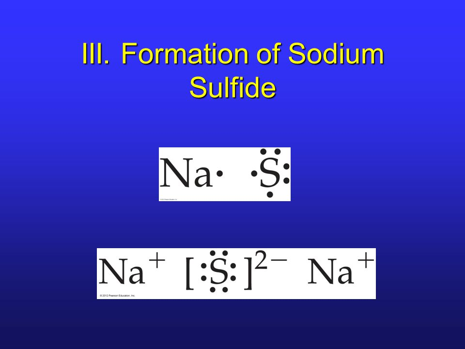 III. Formation of Sodium Sulfide