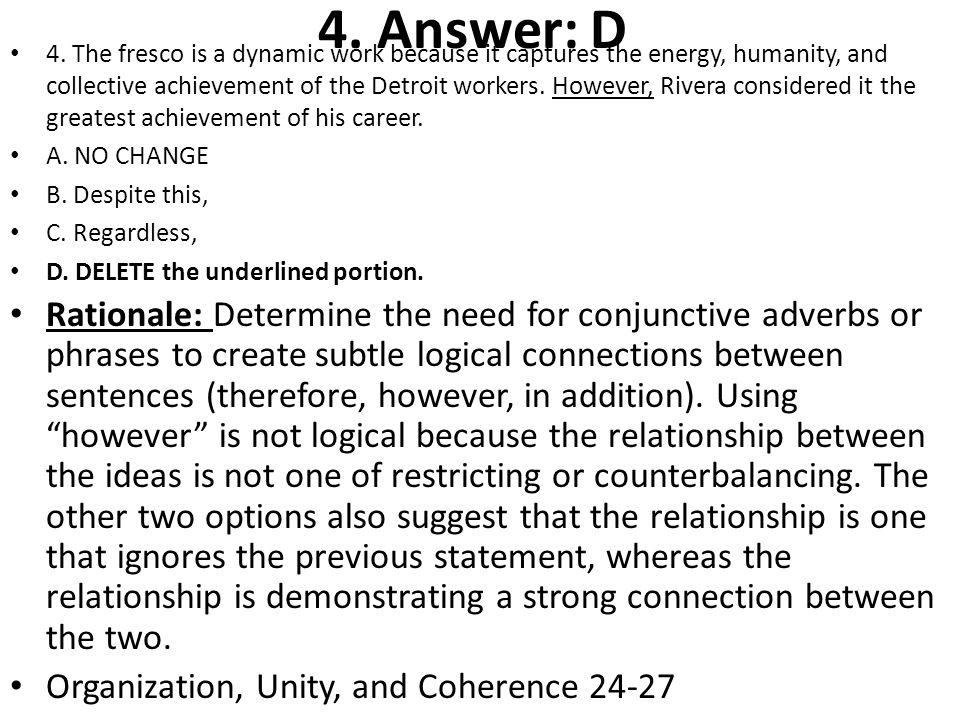 5.Answer: C 5.