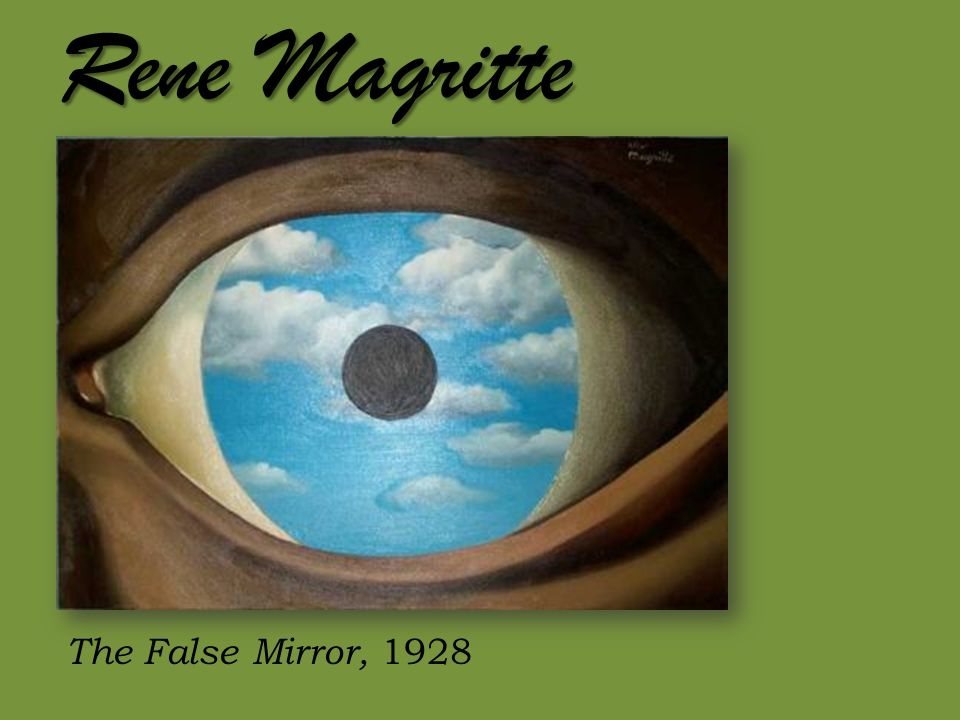 Rene Magritte The False Mirror, 1928