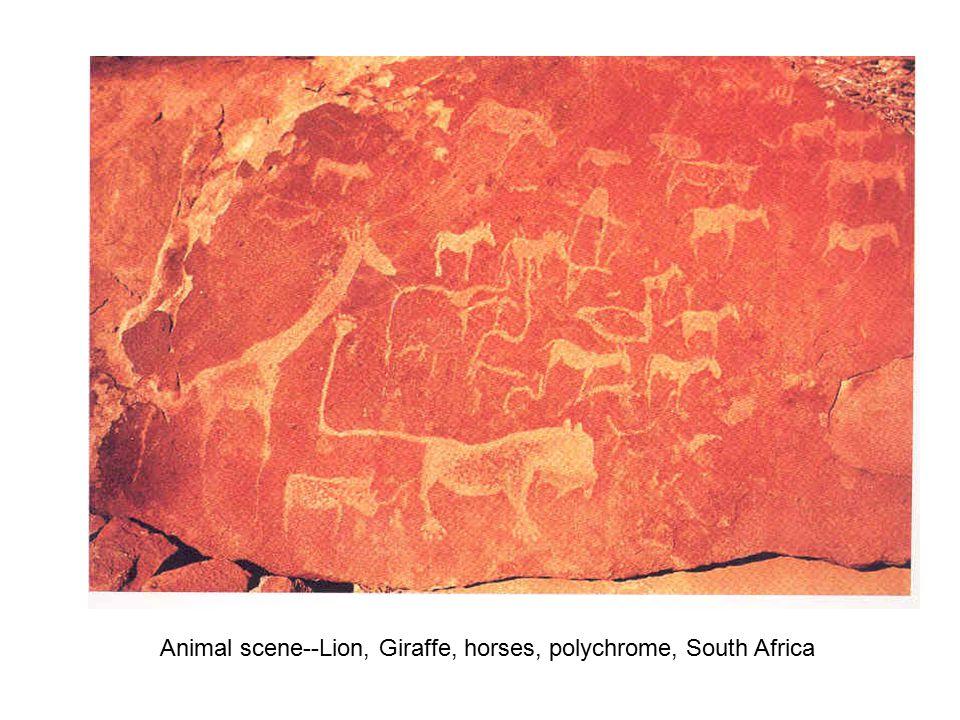 Bloated Crocodile, Rock Painting, San Peoples, Zimbabwe