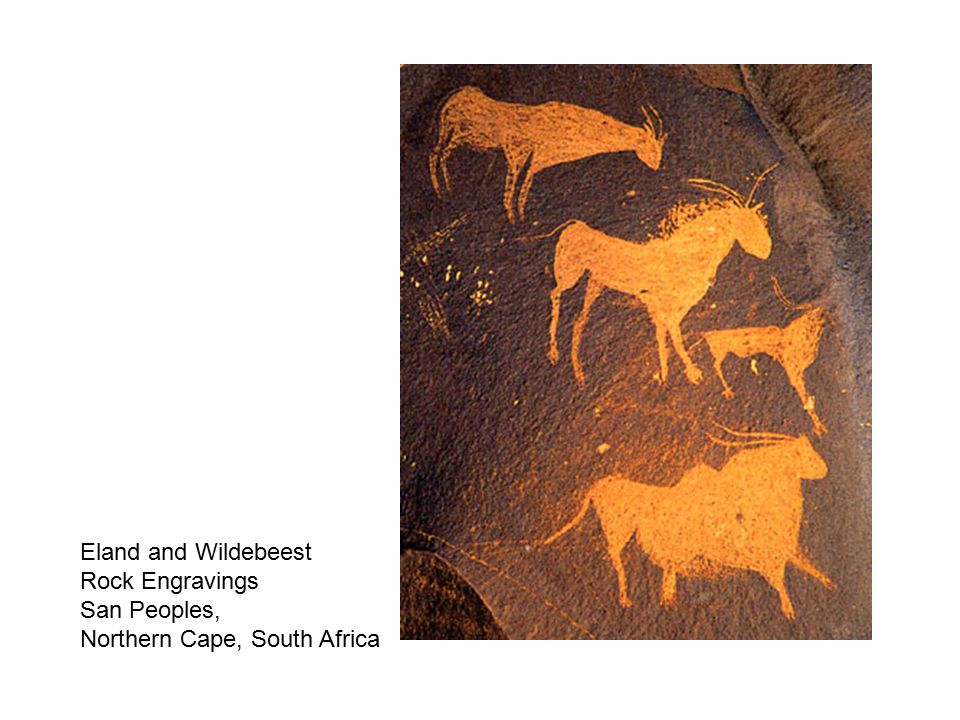 San religious ceremony, Polychrome, South Africa