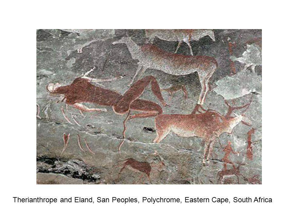 Shaman in Trance, San Painting, Polychrome, Makoni, Zimbabwe