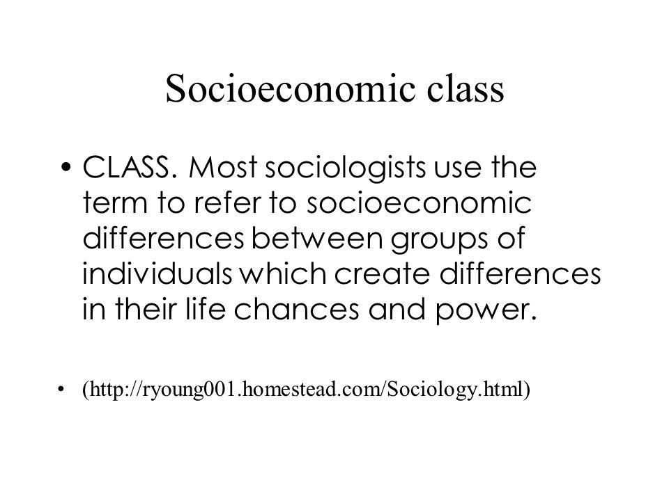 Socioeconomic class CLASS.