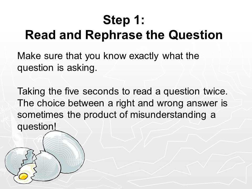 Step 2: When.Who and Where. What. So you tried step 1.