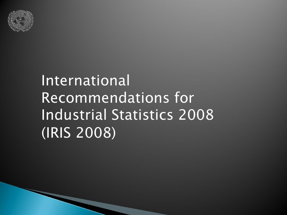 International Recommendations for Industrial Statistics 2008 (IRIS 2008)
