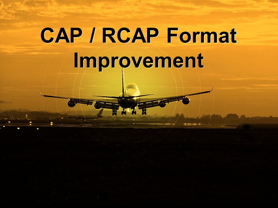 CAP / RCAP Format Improvement