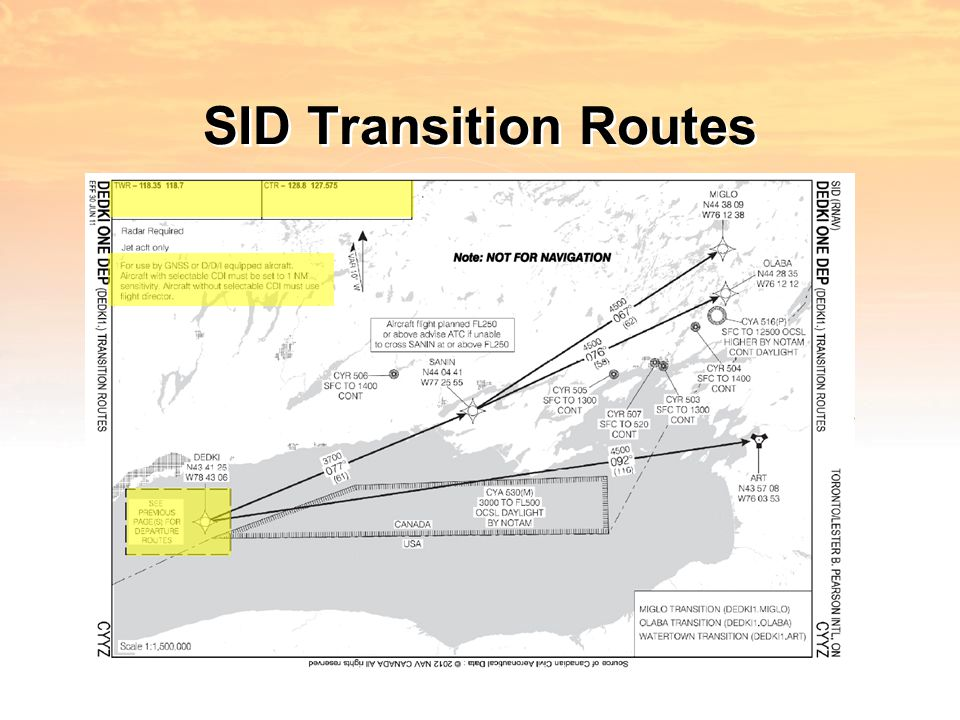 SID Transition Routes