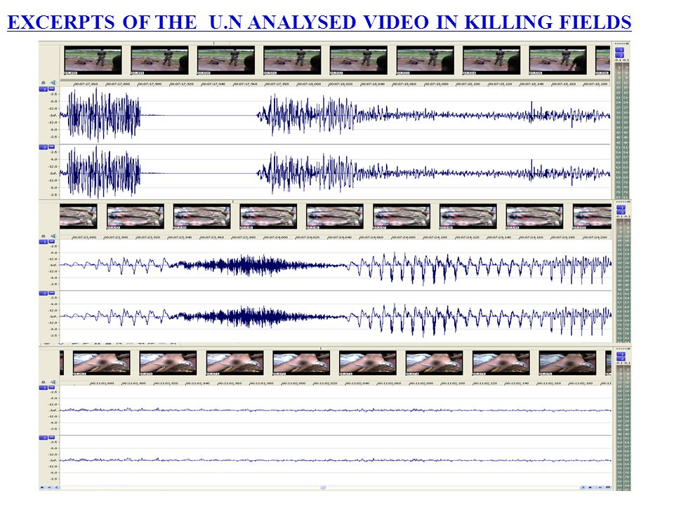EXCERPTS OF THE U.N ANALYSED VIDEO IN KILLING FIELDS