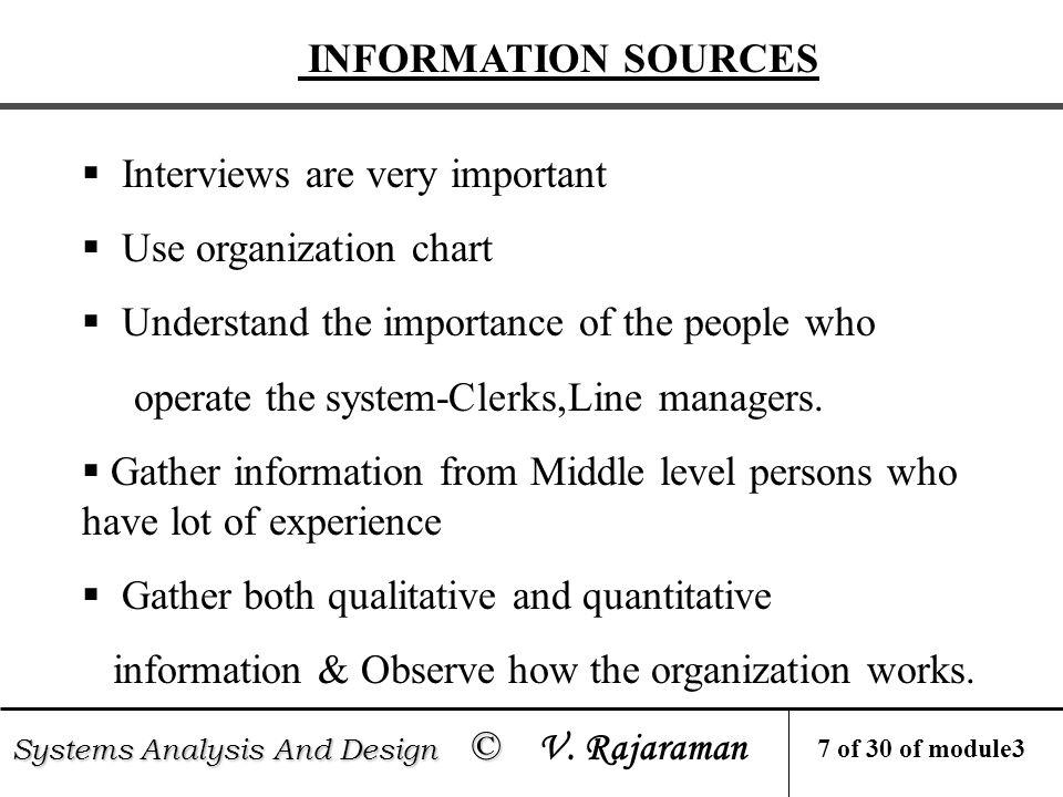 INFORMATION GATHERING METHODS Systems Analysis And Design © Systems Analysis And Design © V.