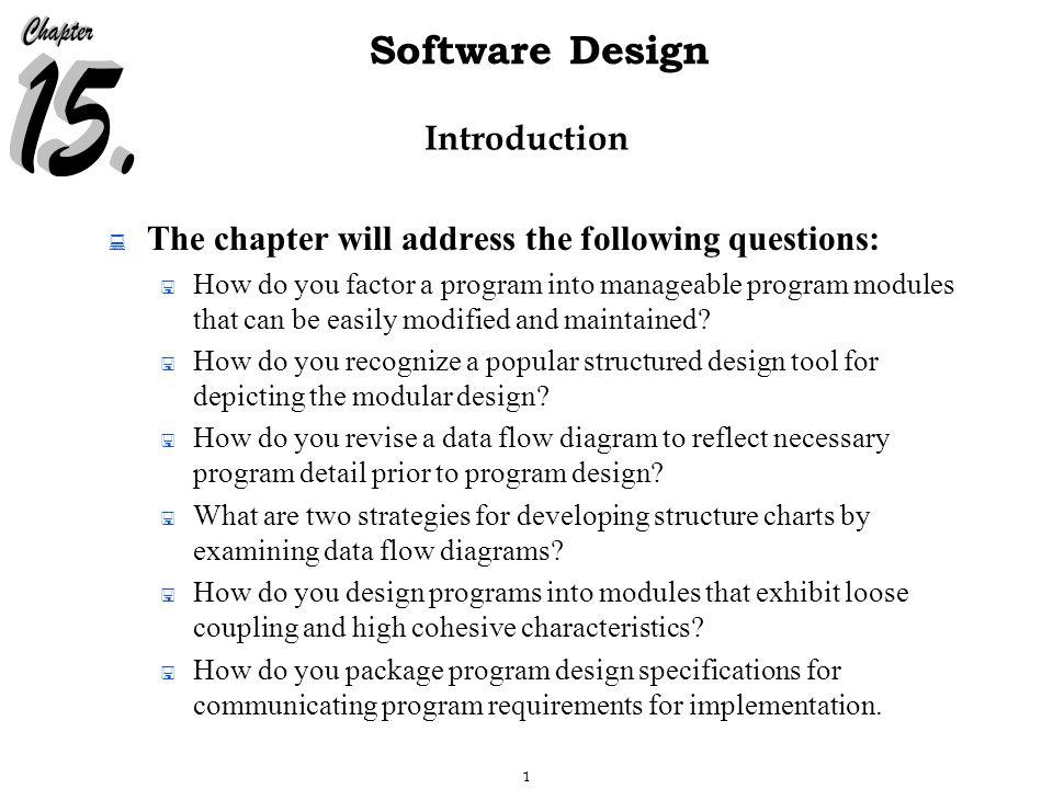 22 Software Design