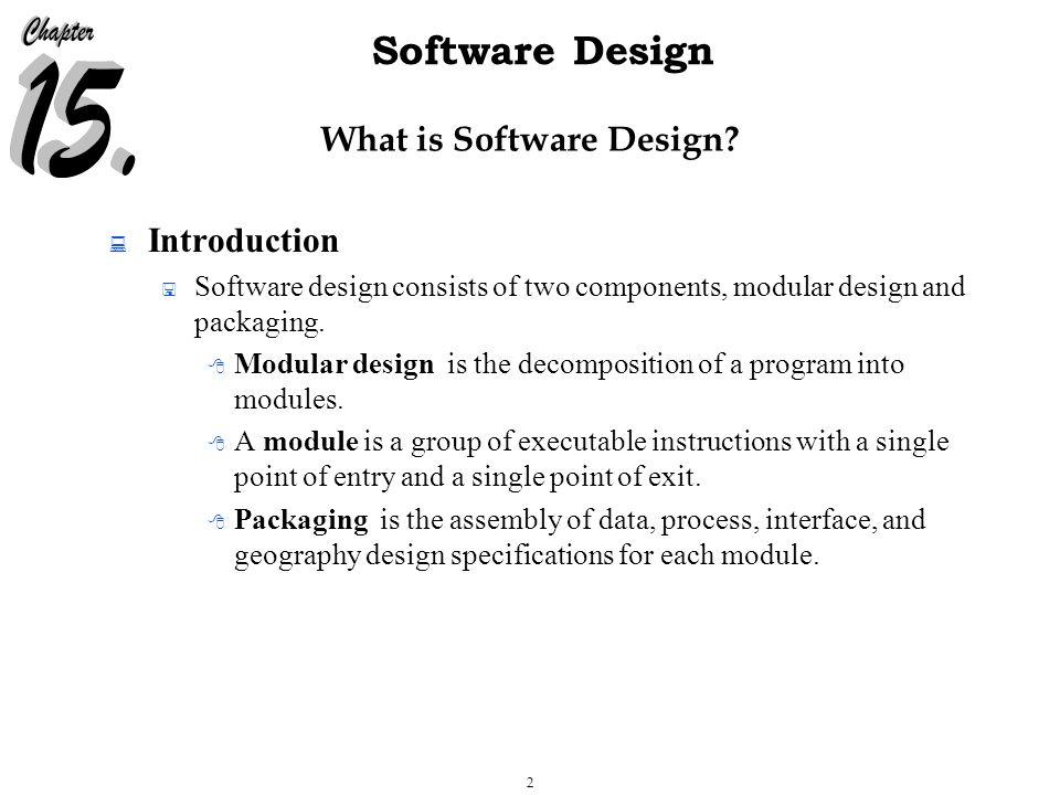 23 Software Design