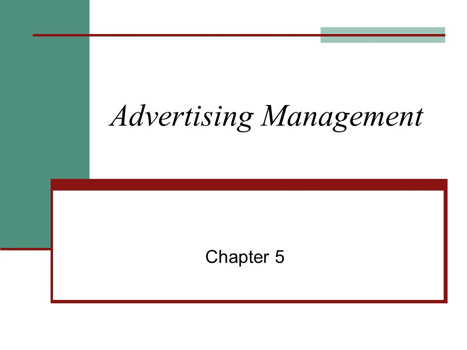 Advertising Management Chapter 5
