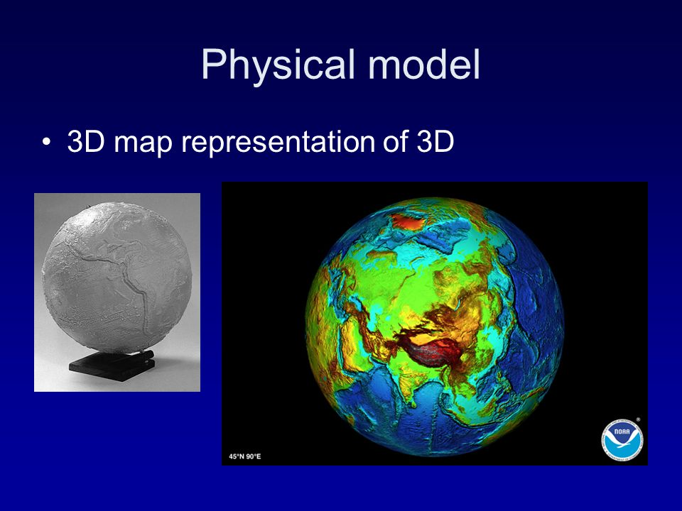 Physical model 3D map representation of 3D