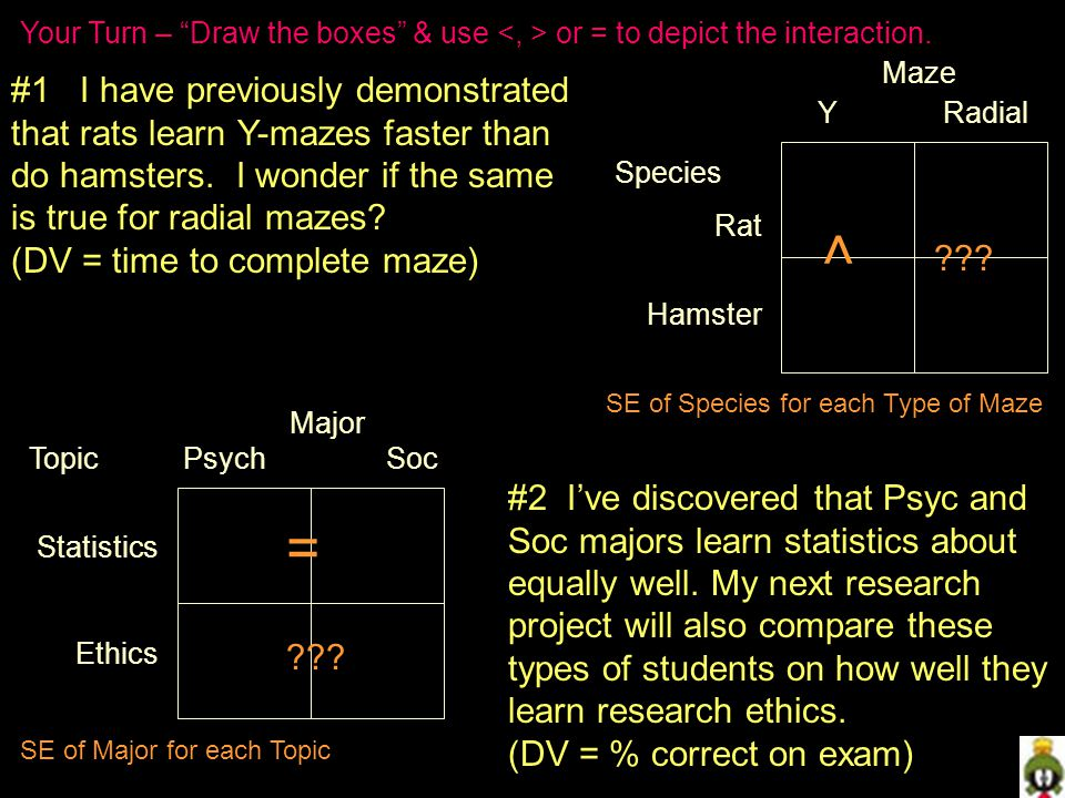 #1 I have previously demonstrated that rats learn Y-mazes faster than do hamsters.
