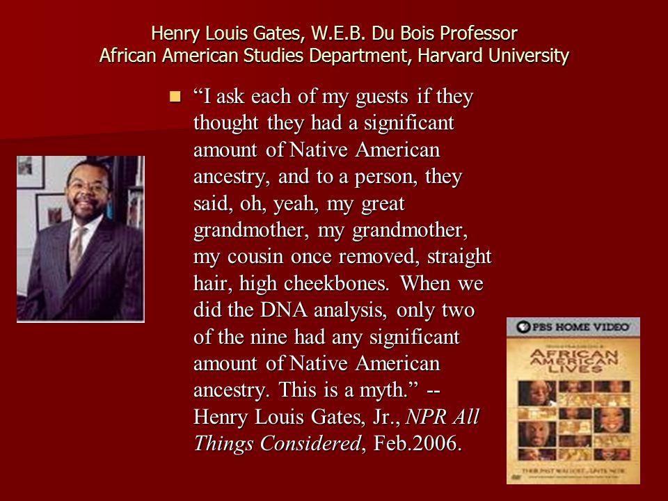 Henry Louis Gates, W.E.B.