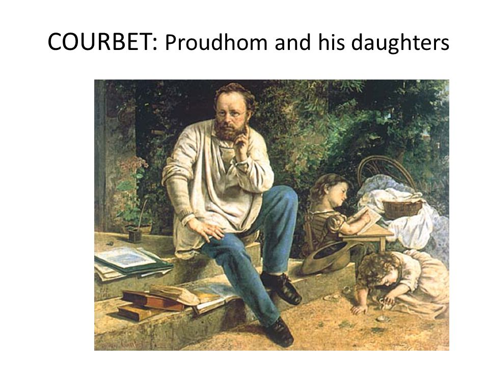 COURBET: Proudhom and his daughters