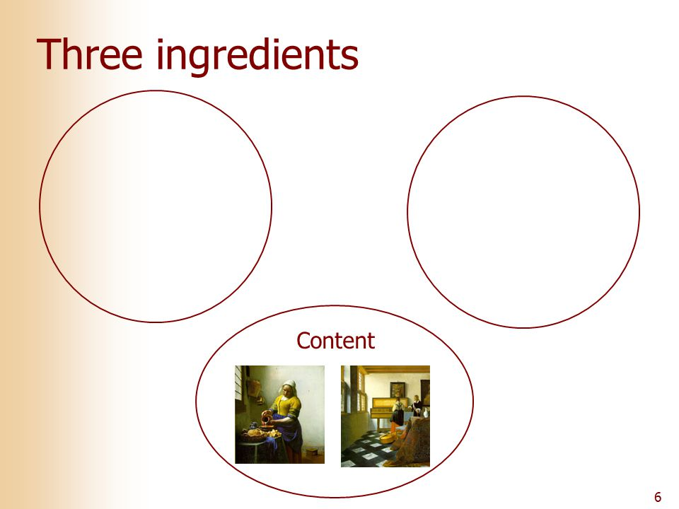 6 Three ingredients Content