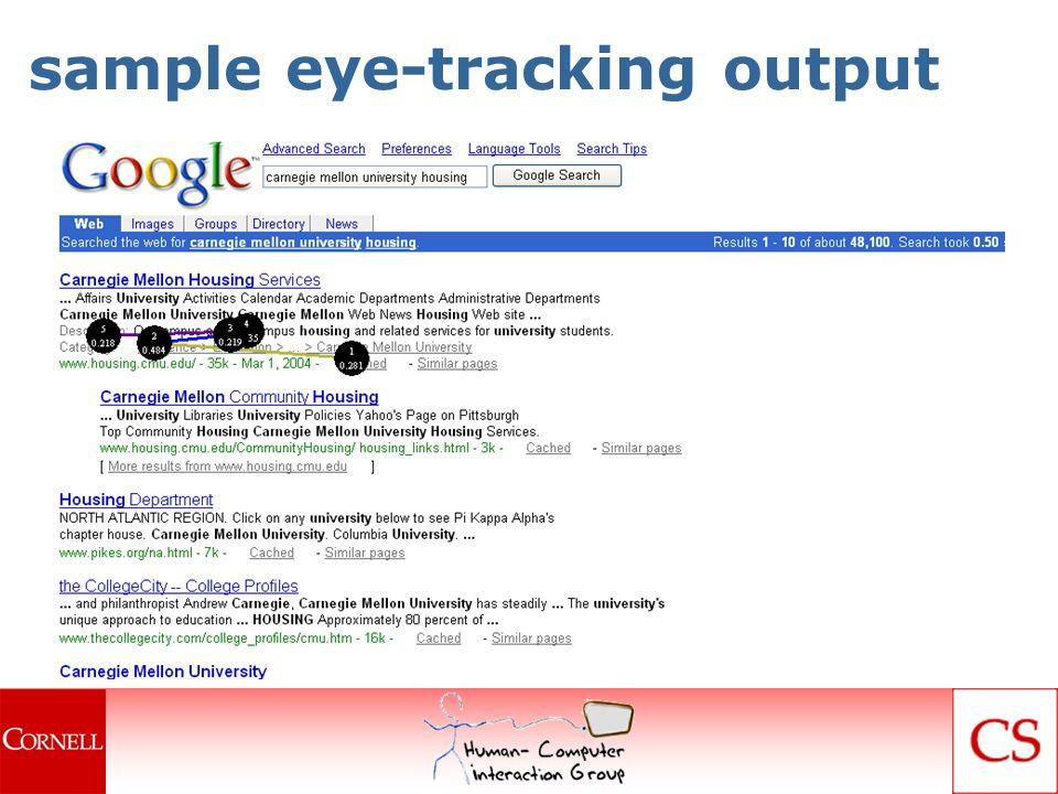 sample eye-tracking output
