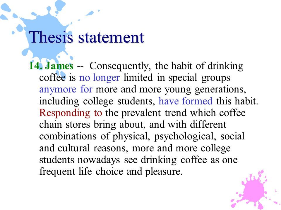 Thesis statement 14.