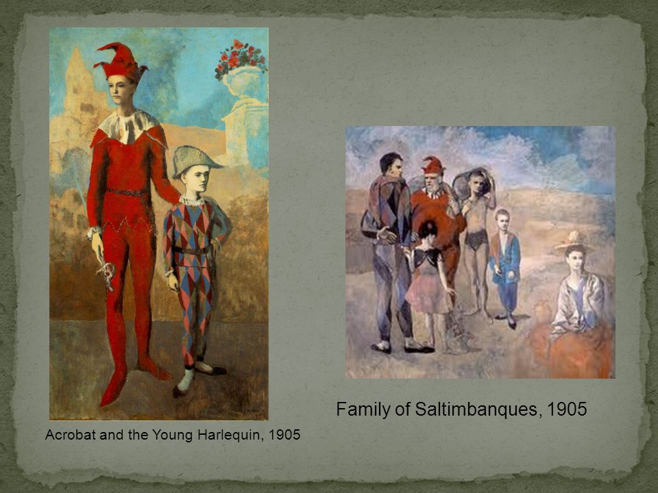 Acrobat and the Young Harlequin, 1905 Family of Saltimbanques, 1905