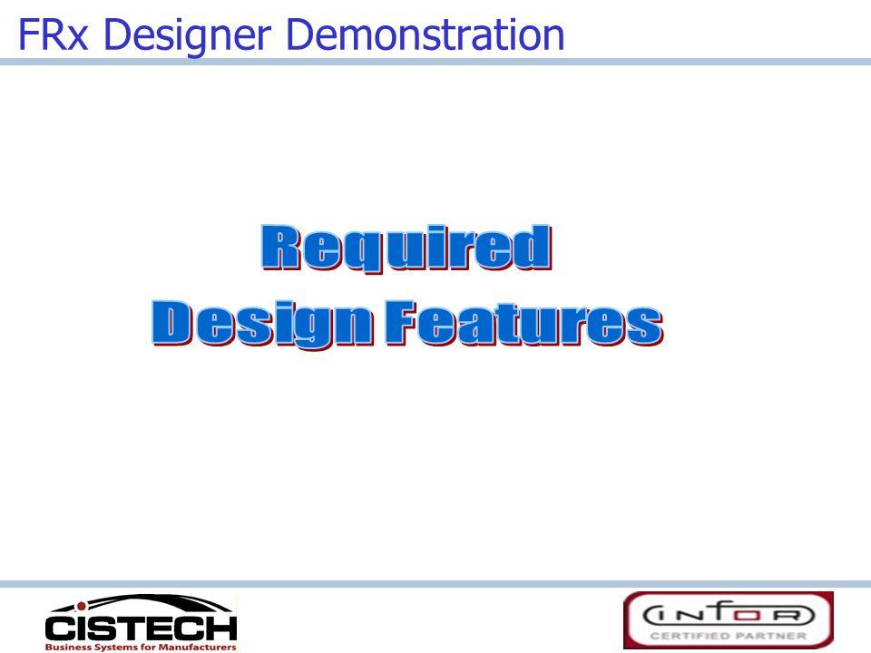 FRx Designer Demonstration