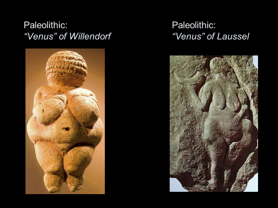 Paleolithic: Venus of Willendorf Paleolithic: Venus of Laussel