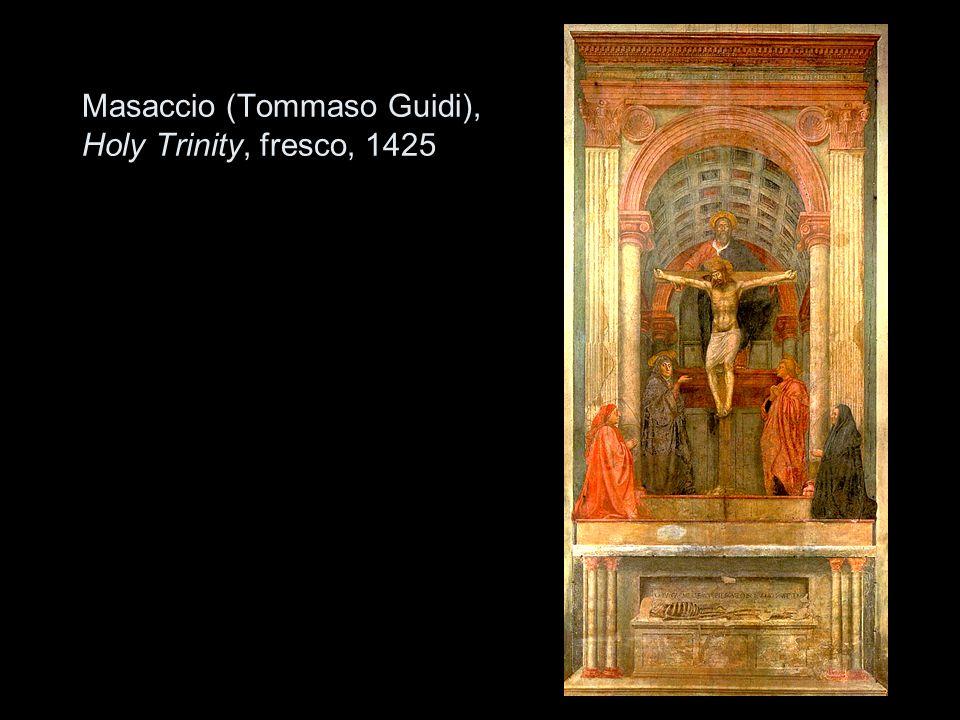 Masaccio (Tommaso Guidi), Holy Trinity, fresco, 1425