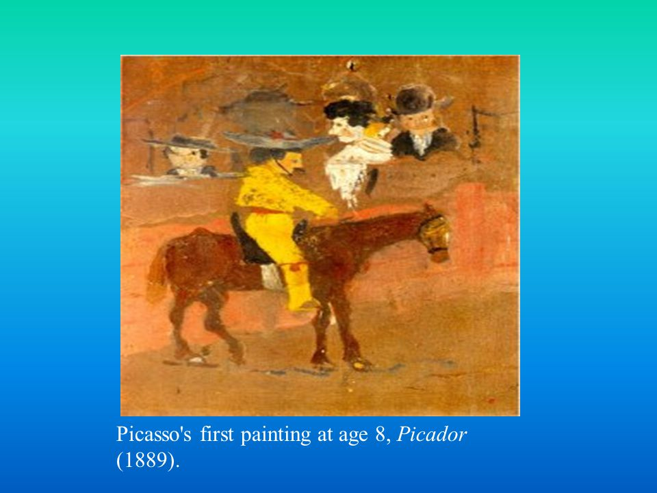 Pablo's father taught him the basics of formal and academic art training.