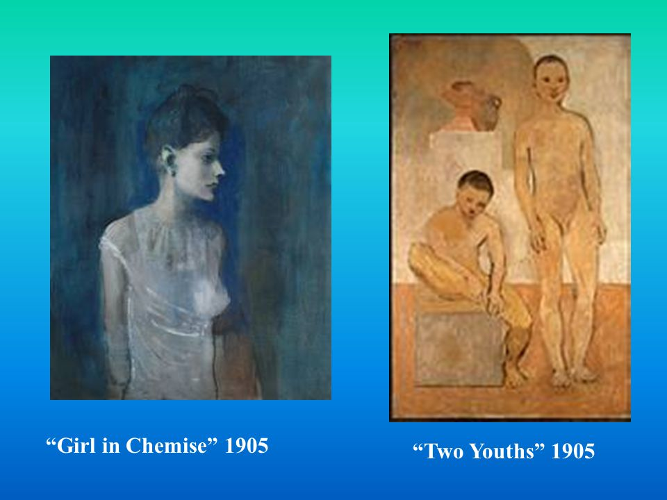 Blue Period Shortly after moving to Paris from Barcelona, Picasso began to produce works that were suffused in blue.