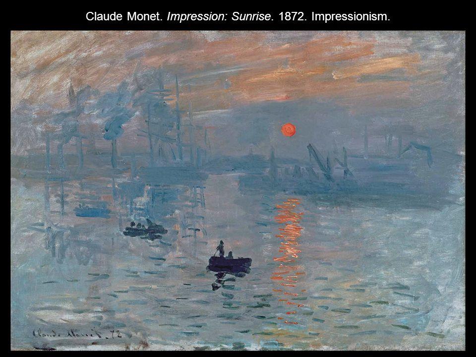 Claude Monet. Impression: Sunrise. 1872. Impressionism.