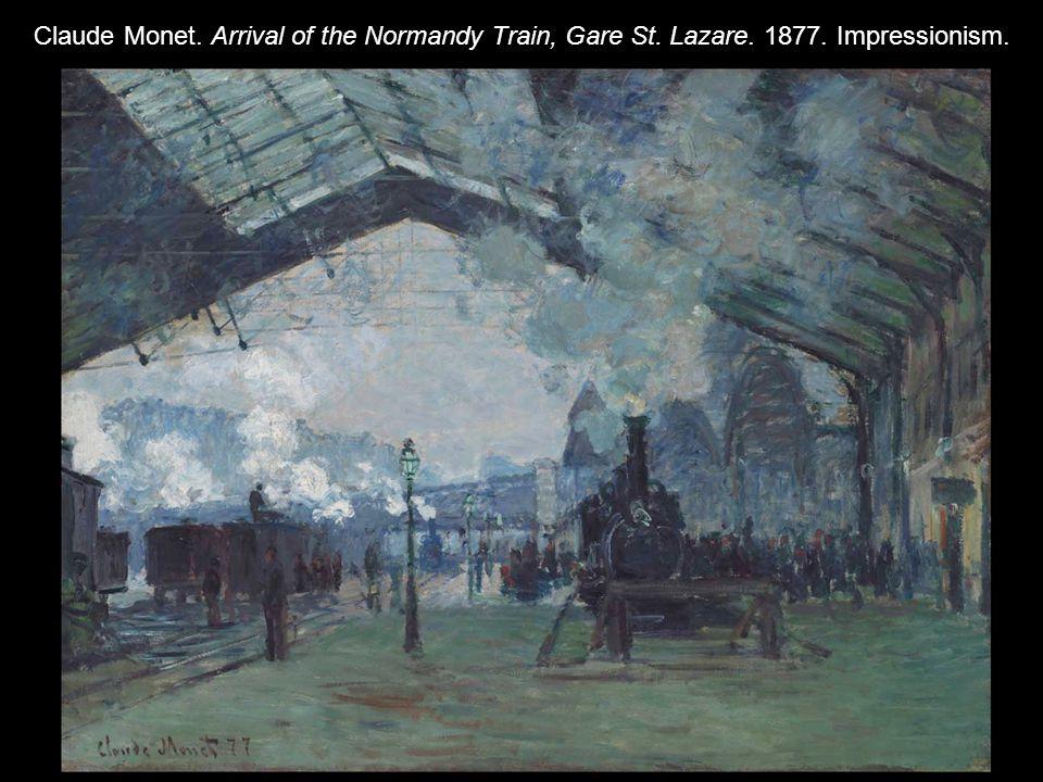 Claude Monet. Arrival of the Normandy Train, Gare St. Lazare. 1877. Impressionism.
