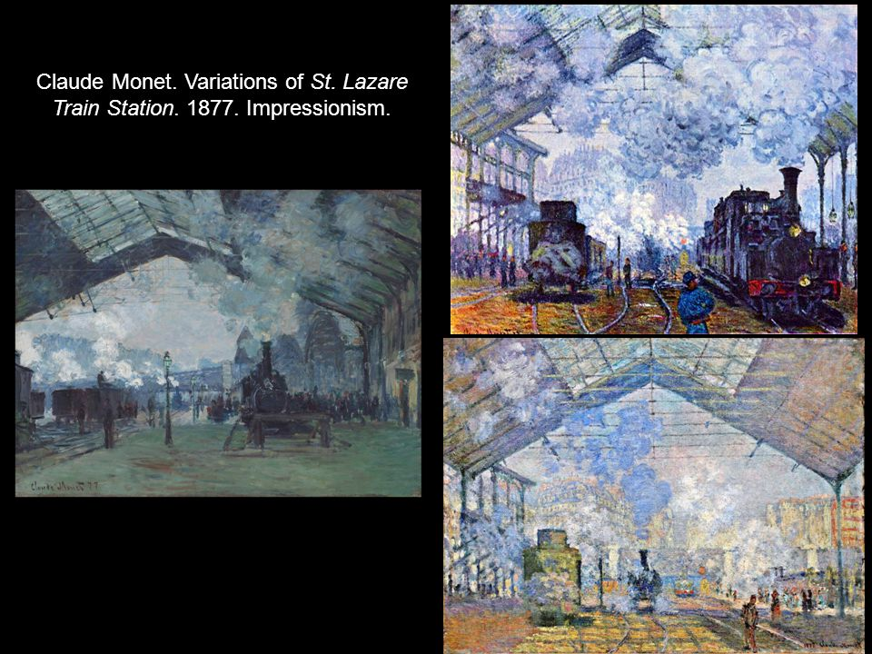 Claude Monet. Variations of St. Lazare Train Station. 1877. Impressionism.