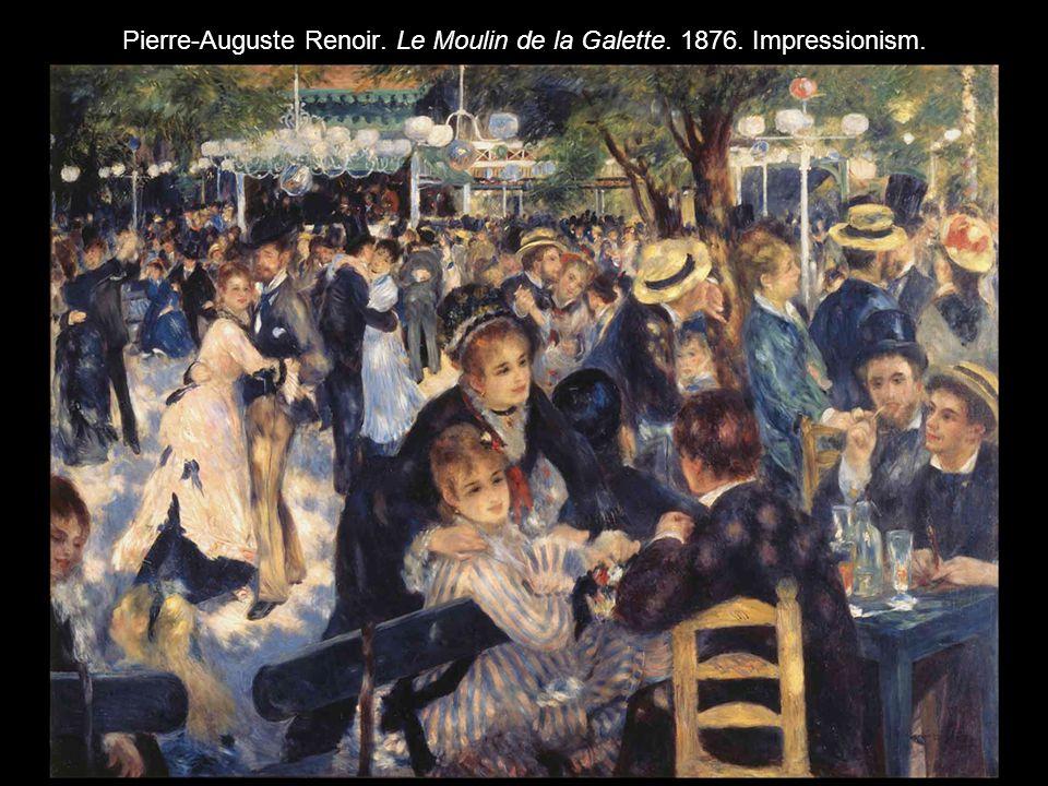 Pierre-Auguste Renoir. Le Moulin de la Galette. 1876. Impressionism.