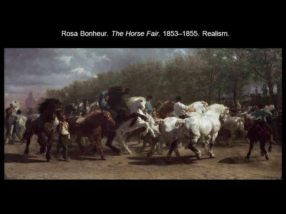 Rosa Bonheur. The Horse Fair. 1853–1855. Realism.