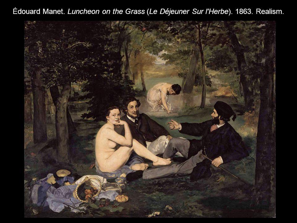 Édouard Manet. Luncheon on the Grass (Le Déjeuner Sur l'Herbe). 1863. Realism.