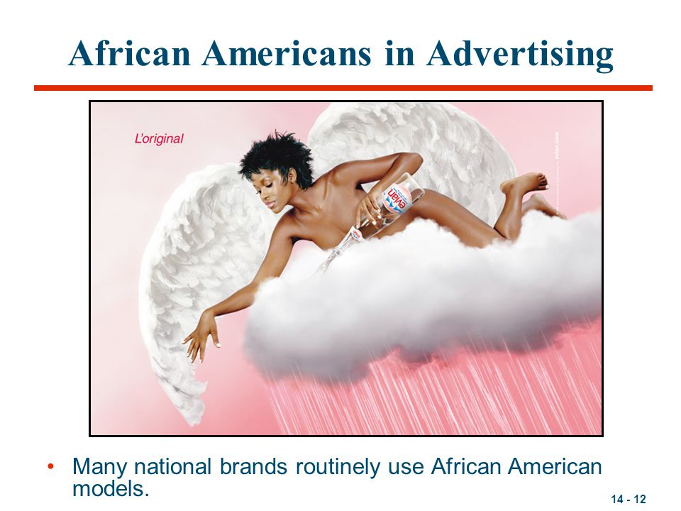 14 - 12 African Americans in Advertising Many national brands routinely use African American models.