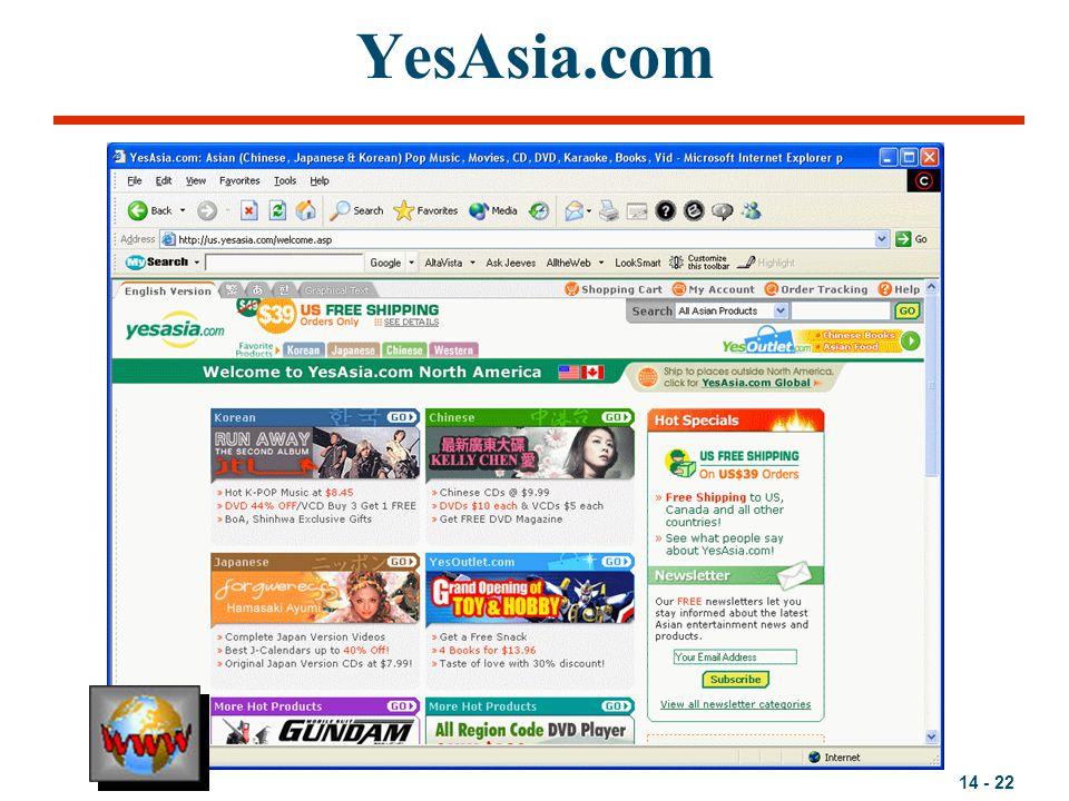 14 - 22 YesAsia.com