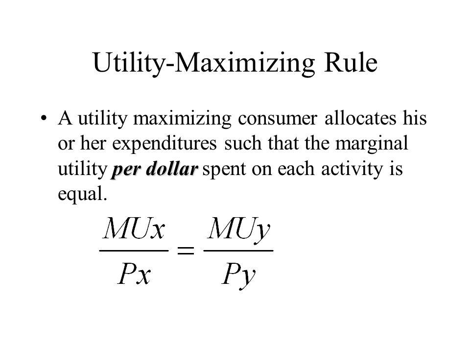 Need help: Maximizing Utility?