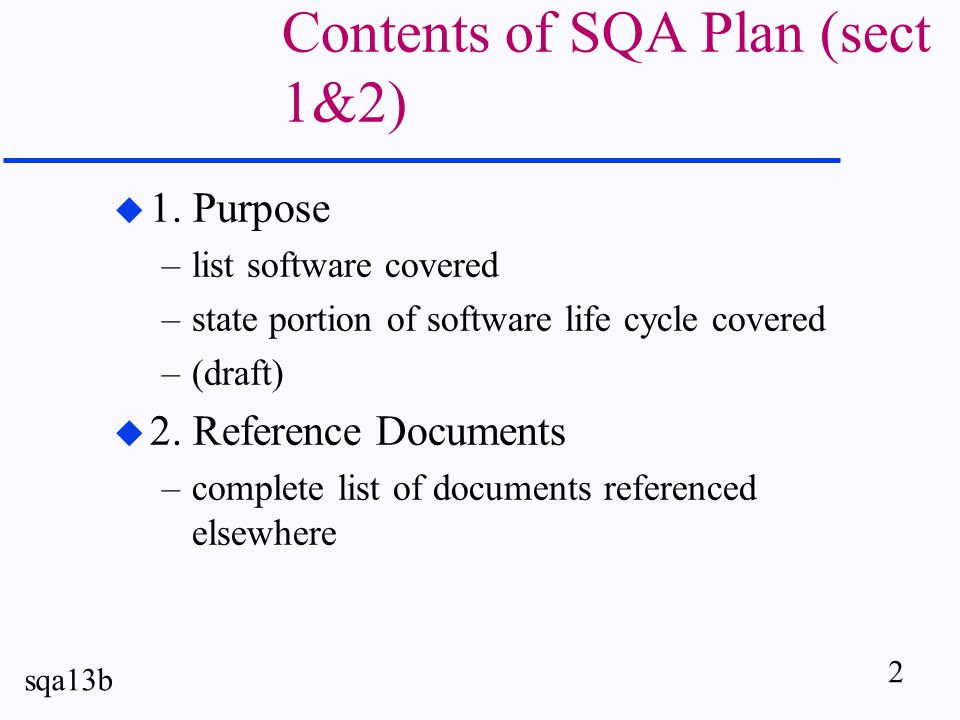 3 sqa13b Sect 3 - Management u organization - depict structure of org.