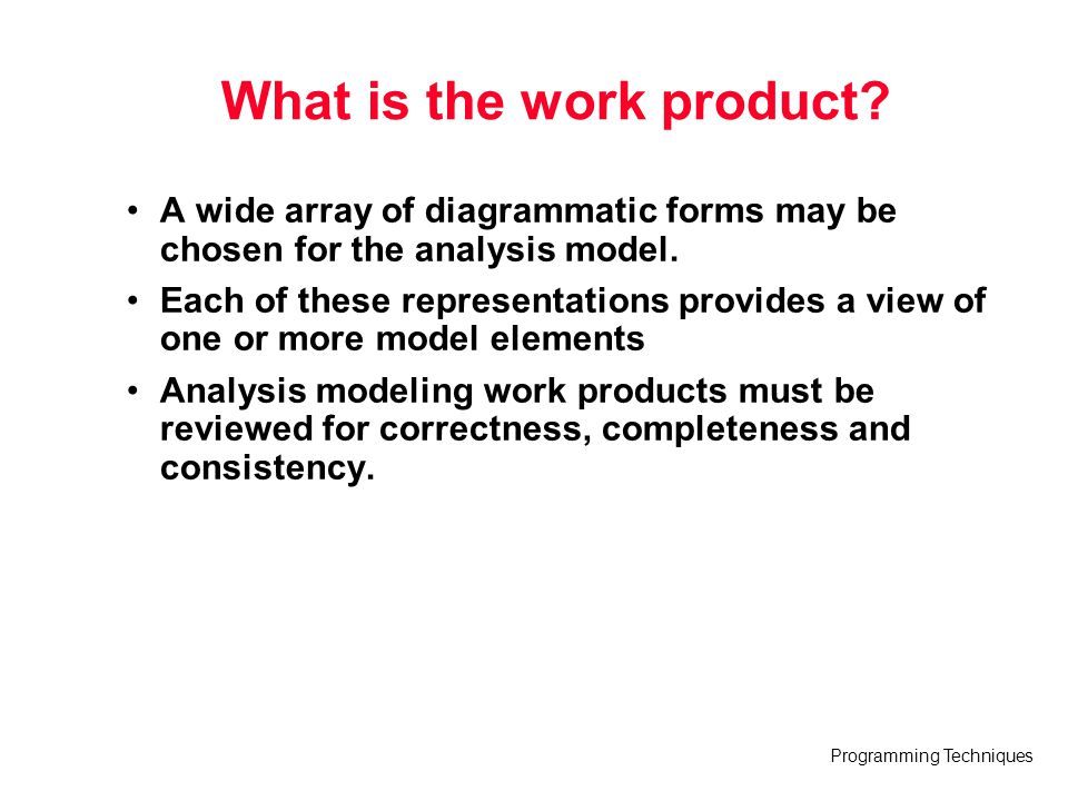 Programming Techniques 3. Data Modeling
