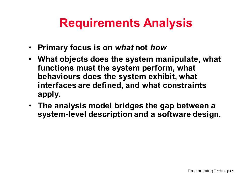 Programming Techniques A Bridge