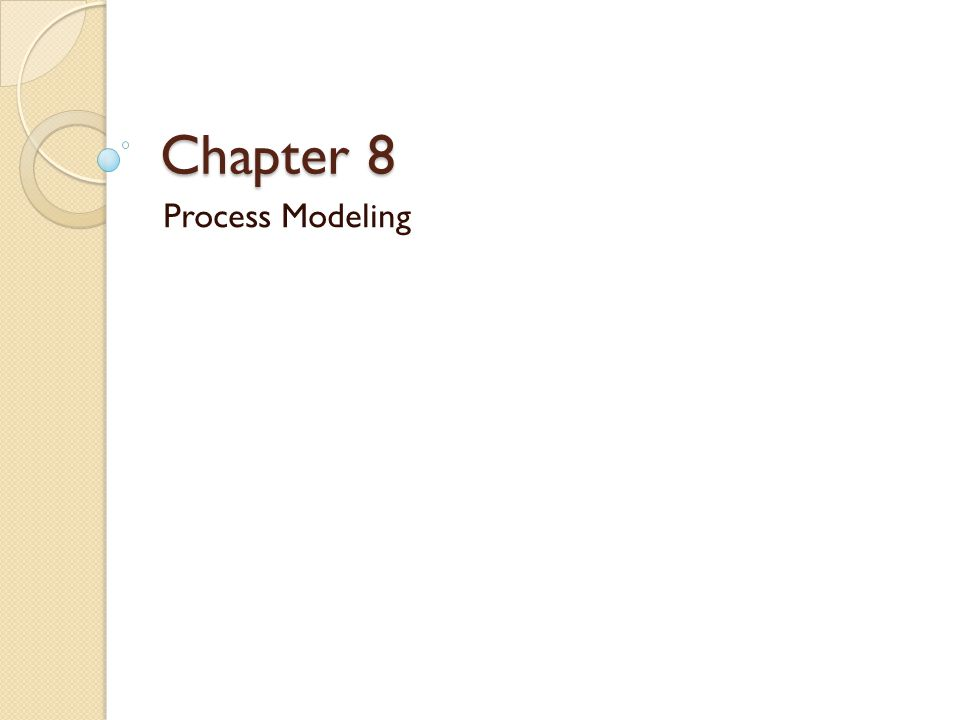 Objectives Define process modeling and explain its benefits.