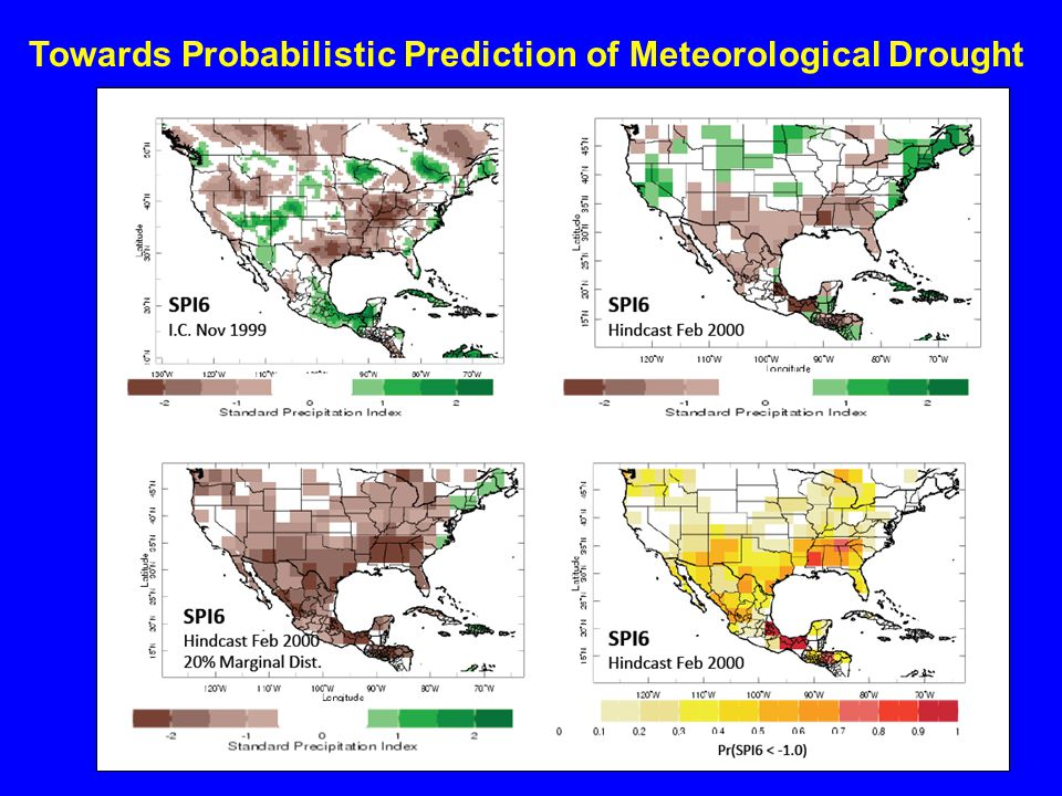 Towards Probabilistic Prediction of Meteorological Drought