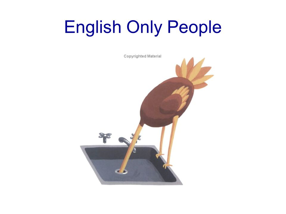 English Only People