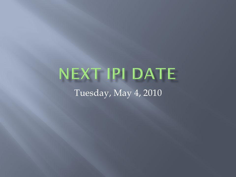 Tuesday, May 4, 2010