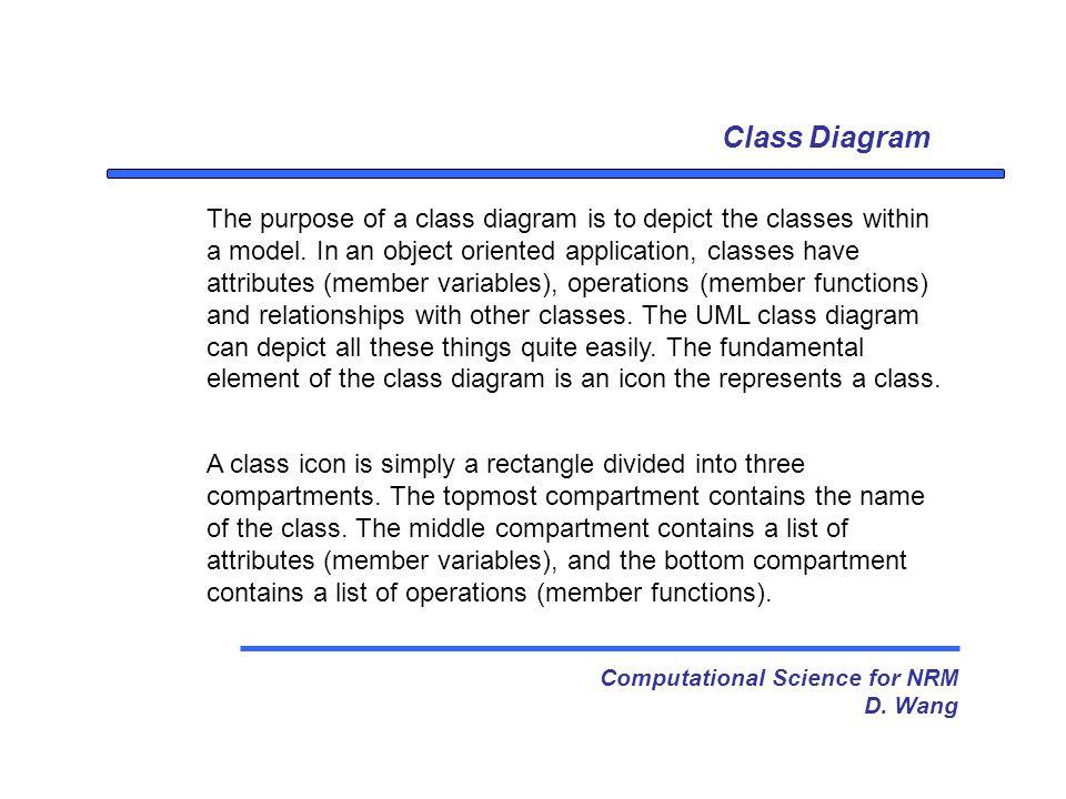 Class Diagram Computational Science for NRM D.
