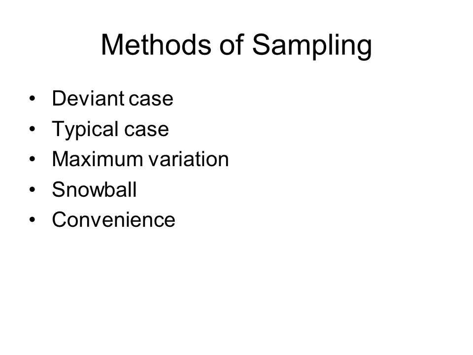 Design Issues Units of analysis (settings) Comparisons (plausibility) Flexible design (serendipity) Access (informants) Sampling (purposeful) Data collection (saturation) Data analysis(meaning units)