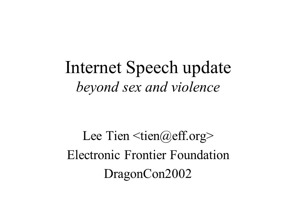 Chokepoints on the Internet Utopian talk about unregulability of Net Wrong or at least underestimate danger Most of us rely on service provider (MAPS) Elephant/mice problem –If we depend on identifiable entities with assets, pressure on them can control flow –Mice hard to sue but easily scared