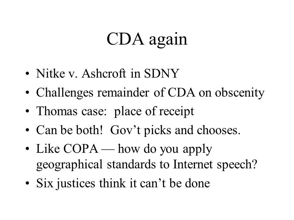 CDA again Nitke v.